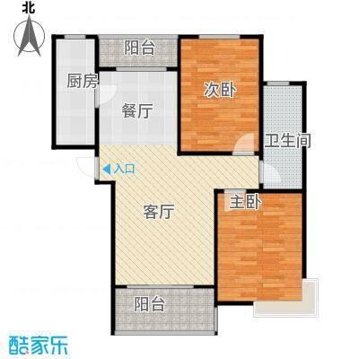 鲁能海蓝金岸90.55㎡C2户型2室2厅1卫