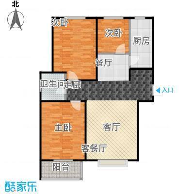 香溪雅地89.34㎡A3户型两室两厅一卫户型2室2厅1卫