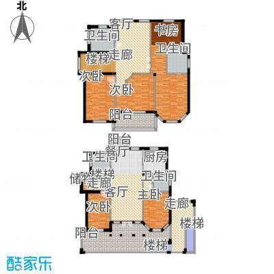 星海绿苑244.99㎡D户型 建面约244.99平米户型7室3厅3卫
