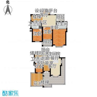 星海绿苑228.82㎡B户型 建面约228.82平米户型8室3厅3卫