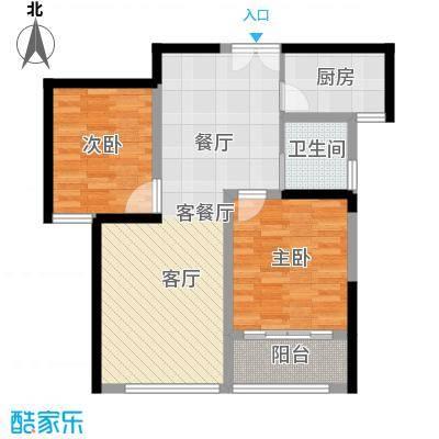 晓庄国际广场72.06㎡一期1号楼标准层C户型2室1厅1卫1厨