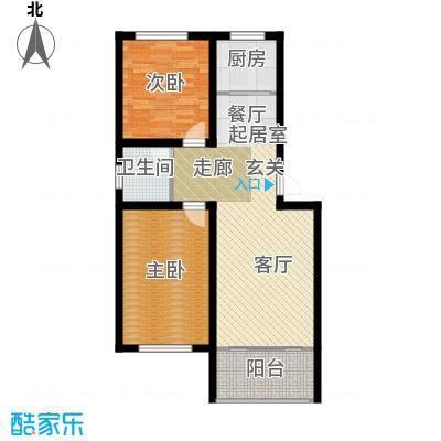 尧和宁苑三期78.33㎡78.33两室两厅一卫A、B户型2室2厅1卫