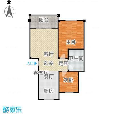 红豆佳苑一期户型2室1厅1卫