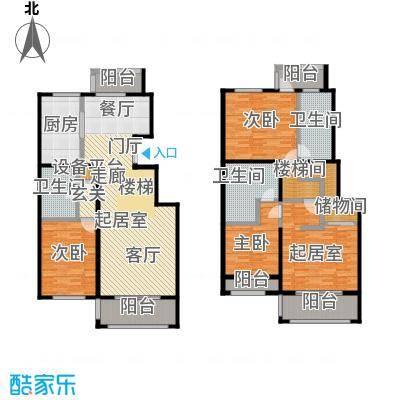 玖郡M户型三室三厅三卫户型3室3厅3卫