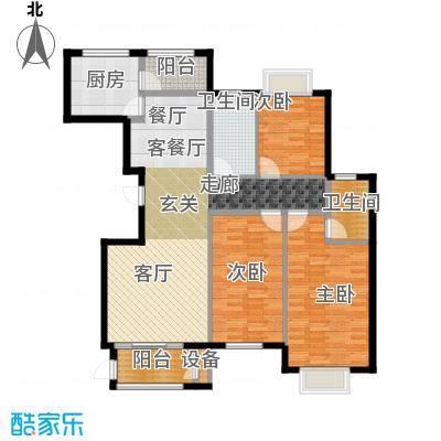 海晟花苑145.00㎡145平米户型3室2厅2卫