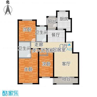 玖郡142.68㎡G户型三室两厅两卫户型3室2厅2卫