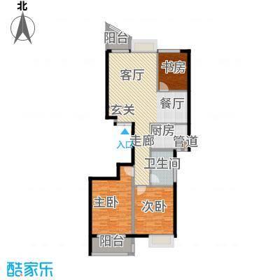 金桥澎湖湾112.00㎡19、20#B户型3室2厅1卫