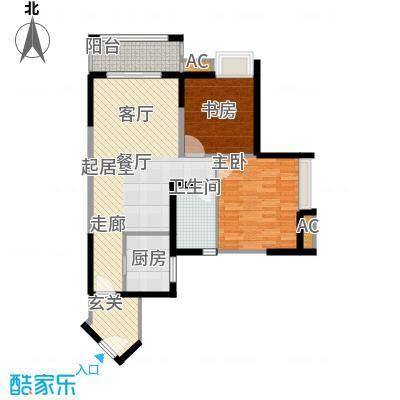 翰城国际-T户型2室1卫1厨