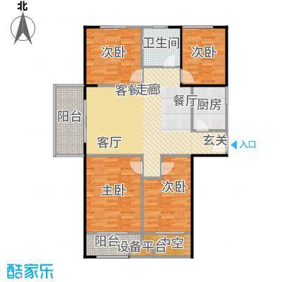 宏江中央广场113.90㎡A\'-1户型3室2厅1卫
