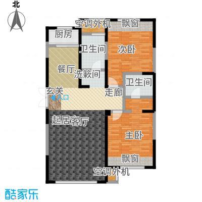 三江尊园114.00㎡E户型2室2厅2卫