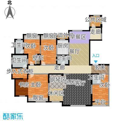 三江尊园281.00㎡H户型4室2厅4卫