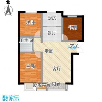 溪语原筑户型3室1厅1卫1厨