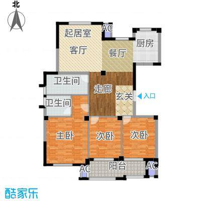 万家富公寓三房二厅二卫-142平米-22套户型
