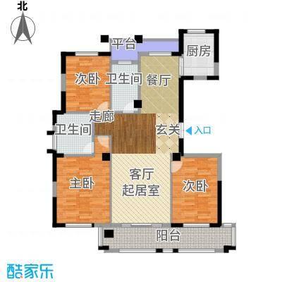 万家富公寓三房二厅二卫-144平米-2套户型