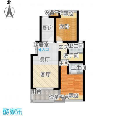 阳光北京城户型2室2卫1厨