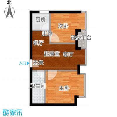 东方国际51.50㎡2室2厅1卫
