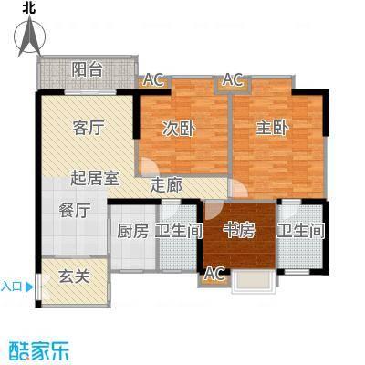 翰城国际121.15㎡翰城国际户型图户型3室2厅2卫