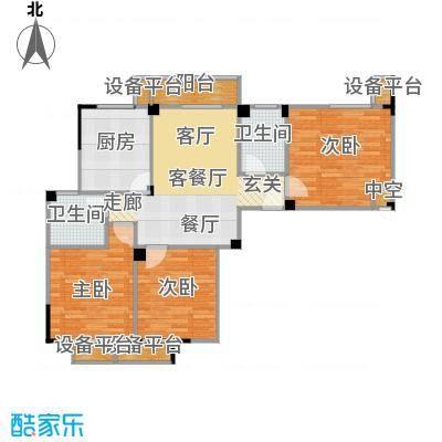 菱湖印象102.00㎡A4户型3室2厅1卫