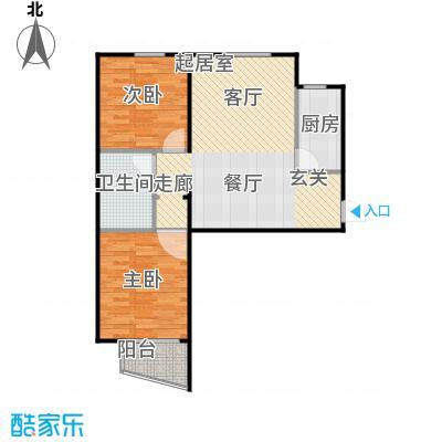 鸥洲87.12㎡电梯洋房户型图S户型2室2厅1卫