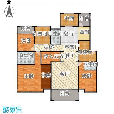 中海紫御公馆250.00㎡迎海大宅户型3室2厅3卫