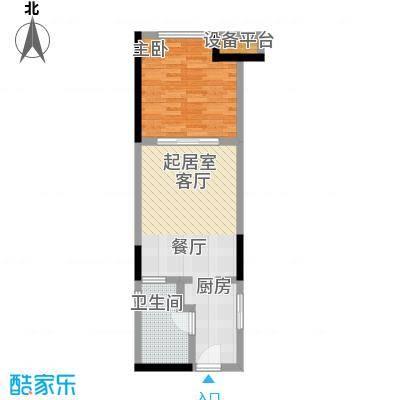 金地澜悦67.00㎡67平米户型图户型1室2厅1卫