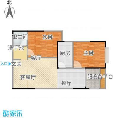 宏江中央广场I-2户型2室1厅1卫1厨