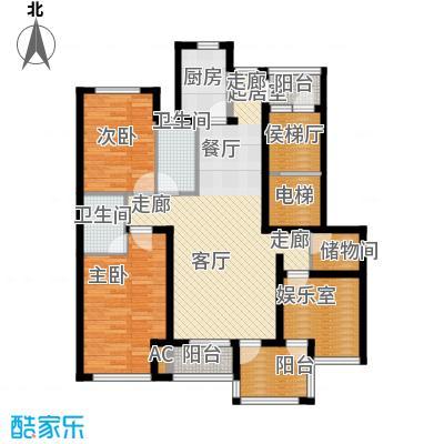 国际新城国际启筑I户型2室2厅2卫