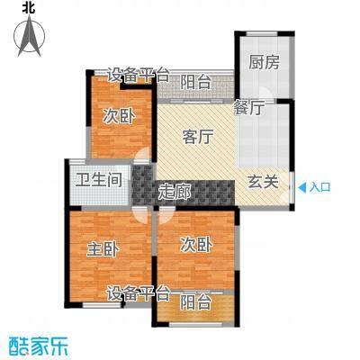 金海名园118.00㎡F户型3室2厅1卫