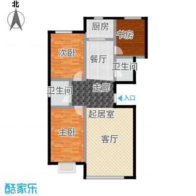 睿瀛佳苑126.07㎡1号楼标准户型3室2厅2卫