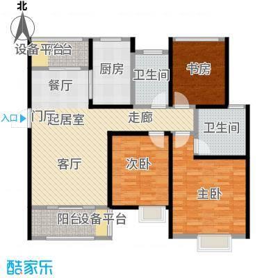 旭辉苹果乐园110.00㎡7#A1户型3室2厅2卫