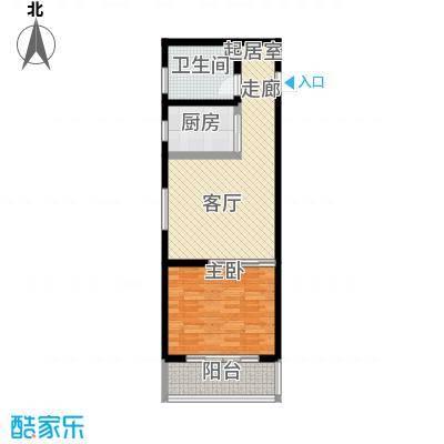 和美鑫苑一居室62平米户型