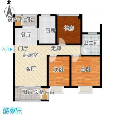 旭辉苹果乐园89.00㎡1#B2户型3室2厅1卫