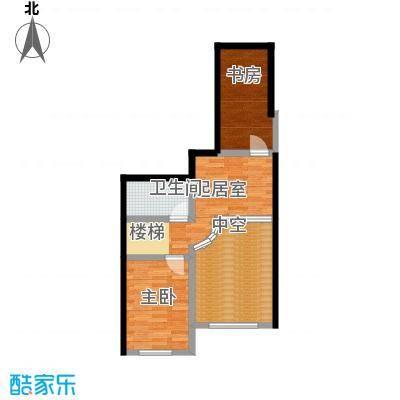 哈东上城60.00㎡4-8-11-12-13#A复式户型上层2室1厅1卫户型2室1厅1卫