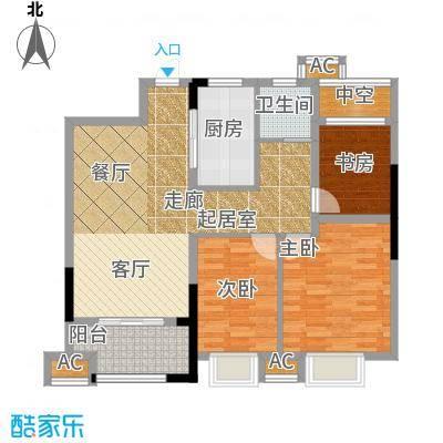 旭辉悦庭88.00㎡旭辉悦庭2、3、4、5、6、7#楼标准层户型3室2厅1卫1厨户型3室2厅1卫