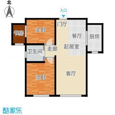 银海新城户型3室1卫1厨