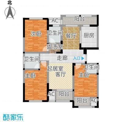金域天下花园三房两厅三卫-142.92平米户型