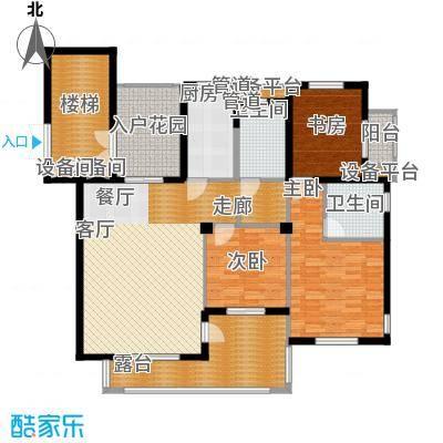 九月洋房三室二厅二卫户型