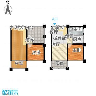 马山寨海景豪庭户型2室1卫1厨