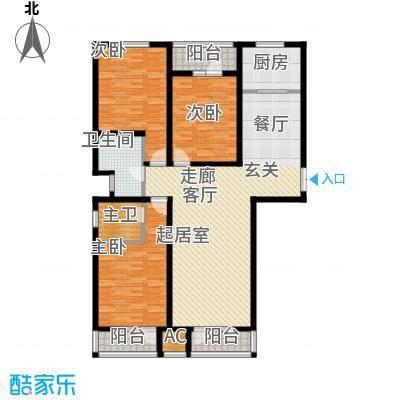 日月天地广场148.15㎡三室两厅户型