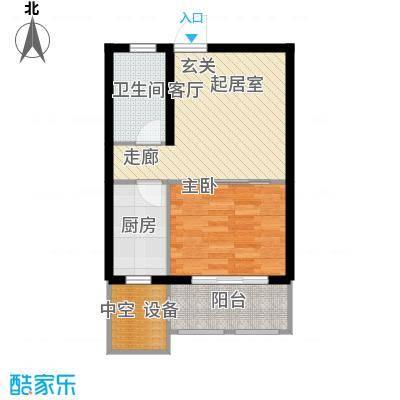 马山寨海景豪庭户型1室1卫1厨
