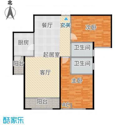 振业城中央两室两厅两卫户型2室2厅2卫