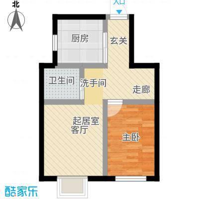 东方嘉苑二期53.00㎡一房户型1室1厅1卫