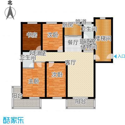 盛世春天四室两厅两卫8#D户型图户型4室2厅2卫