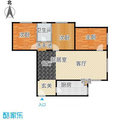 龙河雅居105.99㎡三室一厅105.99平米户型3室1厅1卫