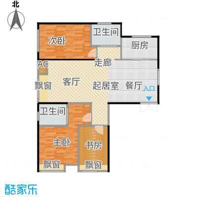 振业城中央135.60㎡10号楼 D户型3室2厅2卫