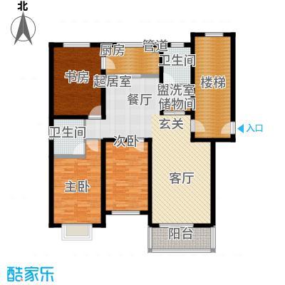 盛世春天三室两厅两卫6#7#C户型图户型3室2厅2卫