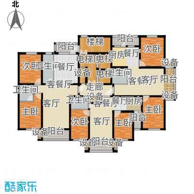 金港湾二期户型6室3厅4卫