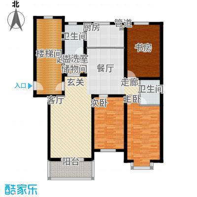 盛世春天三室两厅两卫3#C3户型图户型3室2厅2卫