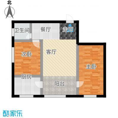 幸福小镇82.00㎡D户型2室2厅1卫