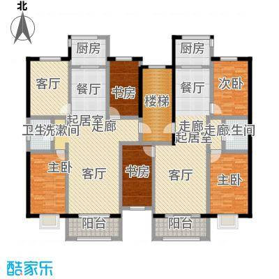 金坤新城花苑户型5室1厅2卫2厨